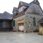 harvest gold limestone with granite house garage