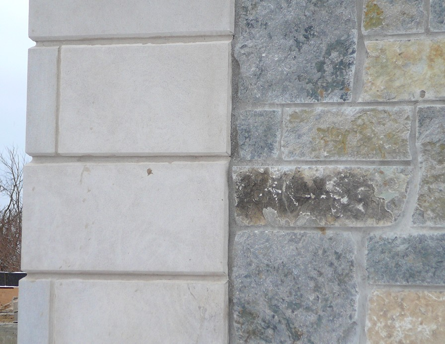 Indianna Limestone Extremely Large Corners with Chamfered Edge