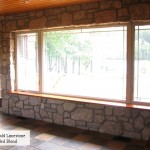 interior stone harvest gold limestone dining room wall