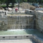 limestone waterfall closeup