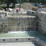 limestone waterfall closeup