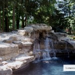 limestone waterfall in toronto