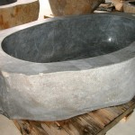 natural stone tub grey