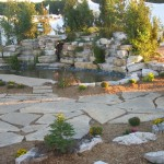 oversized flagstone harvest gold limestone