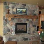 split fieldstone random house fireplace