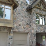 split fieldstone random house garage