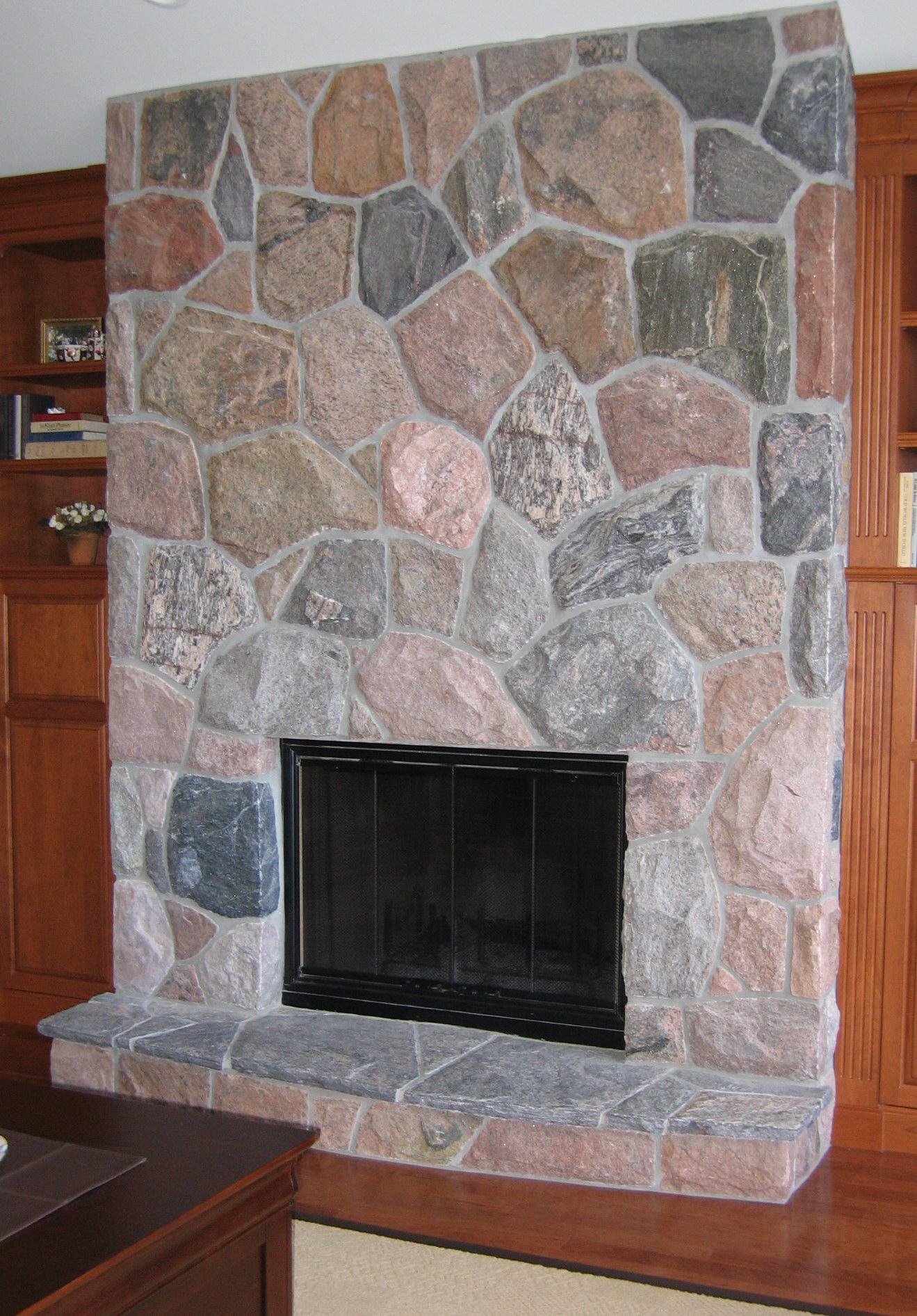 ... split fieldstone random indoor fireplace & EWM Indoor Fireplaces \u2013 Colonial Brick \u0026 Stone Inc.