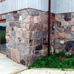 split fieldstone squared foundation