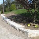 weatheredge limestone armor stone driveway