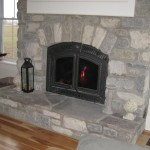 weatheredge limestone tumbled blend fireplace detail