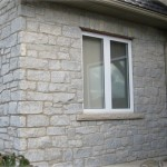 weatheredge limestone tumbled split face ledgerock closeup cottage