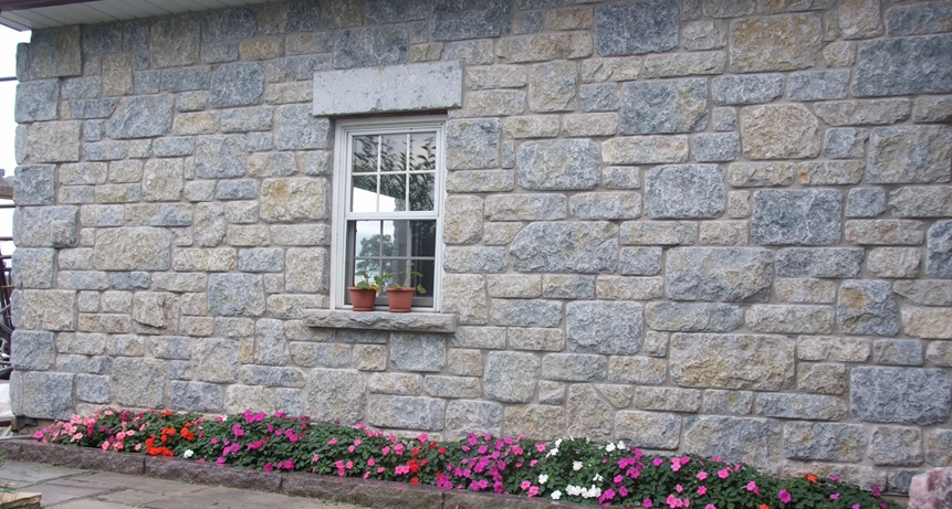 weatheredge limestone tumbled stone wall