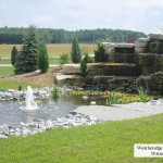 weatheredge limestone waterfall prebuilt