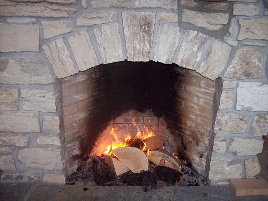 Weatheredge Limestone Weathered-face Ledgerock Fireplace